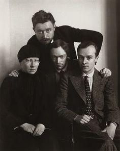 August Sander, Proletarian Intellectuals [Else Schuler, Tristan Rèmy, Franz Seiwert, Gerd Arntz], ca. 1925