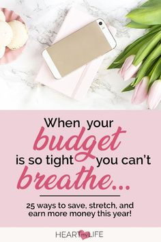 When the money is tight, it's important to make the most of every penny! Here are 25 ways to save money on a tight budget that will help you stretch your . Earn More Money, Ways To Save Money, Money Tips, Money Saving Tips, Money Hacks, How To Make Money, Financial Stress, Financial Planning, Cash Envelope System