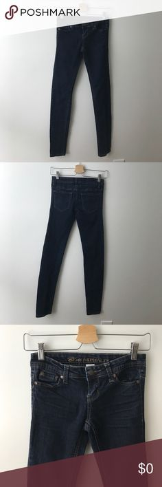 "[$11] 🖤 Second Skin Skinny Jeans Only $10.50 (30% off) in a 3+ item bundle! Blue Asphalt Second Skin skinny leg jeggings in a dark wash with tan contrasting stitching. Great condition! Inseam: ~29.5"". Outseam: ~36.5"". Front rise: ~6.5"". Waist band: ~28"". Leg opening: ~9.5"". Listing no: 142 Blue Asphalt Jeans Skinny"