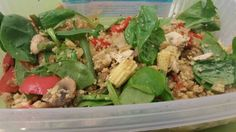 Cous cous salad with lots of speed veg