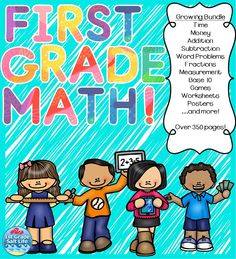 Ultimate 1st grade math bundle! Over 350 pages of engaging math skills!