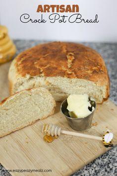 7 Minute (Prep) Artisan Crock Pot Bread