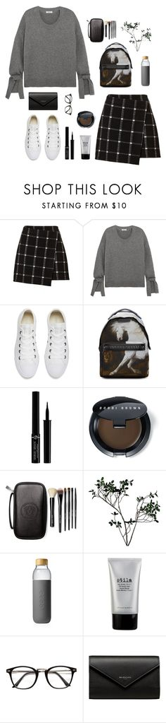 """""""So Fresh: White Sneakers"""" by catchsomeraes ❤ liked on Polyvore featuring Madewell, Converse, STELLA McCARTNEY, Giorgio Armani, Bobbi Brown Cosmetics, Abigail Ahern, Soma, Stila, Balenciaga and whitesneakers"""