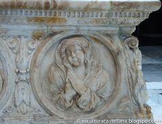 Sepulcro de Gonzalo Díez de Lerma en la catedral de Burgos. Medallón de la Esperanza.