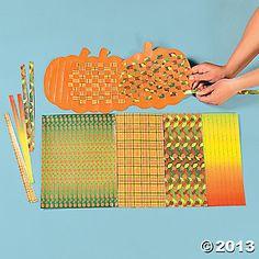 Pumpkin Weaving Mats - Oriental Trading