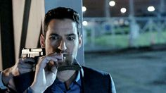 Pass that this way, gorgeous. Tom Ellis - Lucifer