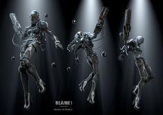 Blame!, Roman Makarenko - female, armor, mask, helmet