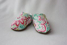 Soft Baby Shoes in pink paisley by TheTinyDictator on Etsy