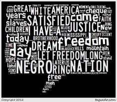 "Martin Luther King speech ""I Have a Dream"" Copyright: Tagexedo.com"