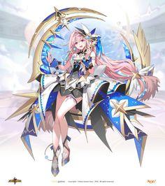 그랜드체이스 카페톡 Fantasy, Character Inspiration, Sprite, Demon, Art, Character, Anime, Anime Characters, Zelda Characters