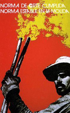 Cuban silk screen poster designed by Heriberto Echeveria 1972. From Revolucion! Cuban Poster Art Chronicle Books, 2003.