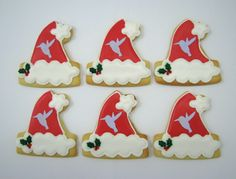 Santa's Hats with logo for customers