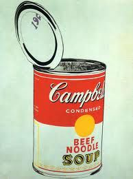 Andy Warhol soup can.  Open can?