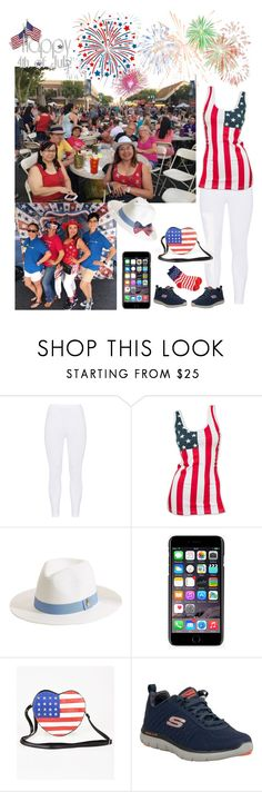 """""""Main Street Downtown 4th July Party"""" by ester-ludwig on Polyvore featuring Gozzip, Melissa Odabash, Dolce&Gabbana and Skechers"""