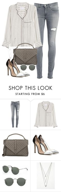 """""""Sin título #1721"""" by camila-echi ❤ liked on Polyvore featuring Dondup, Zadig & Voltaire, Yves Saint Laurent, Gianvito Rossi, Ray-Ban and Forever 21"""