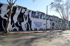Graffiti de David de la Mano vandalizado por una empresa inmobiliaria!