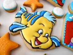 Little Mermaid cookies by Oh, Sugar! Events http://ohsugareventplanning.blogspot.com/