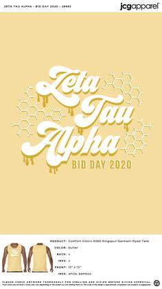 Zeta Tau Alpha Bid Day Shirt | Sorority Bid Day Shirt | Greek Bid Day Shirt #zetataualpha #zeta #zta #Bid #Day #Shirt #honey #im #home Sorority Bid Day, Sorority And Fraternity, Bid Day Shirts, Bid Day Themes, Zeta Tau Alpha, Custom Design Shirts, Spring Art, Comfort Colors, Greek