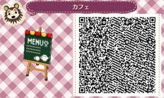 Animal Crossing QR code   Coffee Menu board