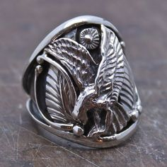 Eagle's Pride Sterling Men's Ring