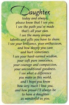 to my daughter more happiness and fun dad now poem - Google Search
