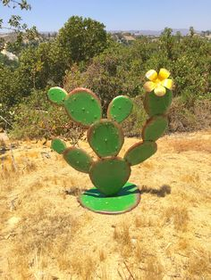 Items similar to Cabo Prickly Pear,Metal Yard Art,Southwest Decor,Rustic Design,. Items similar to Cactus Decor, Cactus Art, Cactus Flower, Fake Cactus, Garden Crafts, Garden Art, Garden Design, Agaves, Outside Wall Decor