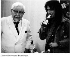 Alice Cooper and Colonel Sanders