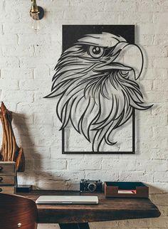 Bald Eagle 003 DXF fichier bon pour CNC Plasma et découpé au Cnc Plasma, Metal Art Projects, Metal Crafts, Metal Walls, Metal Wall Art, Plasma Cutter Art, Wal Art, Gravure Laser, Laser Art