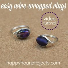 Wire Wrapped Ring Video Tutorial - make one in under 10 minutes at www.happyhourprojects.com