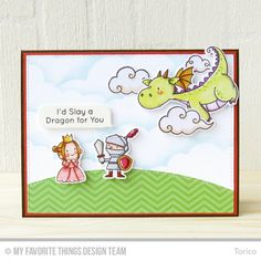 STAMPARADISE: Birthday Flyby | MFT Magical Dragons