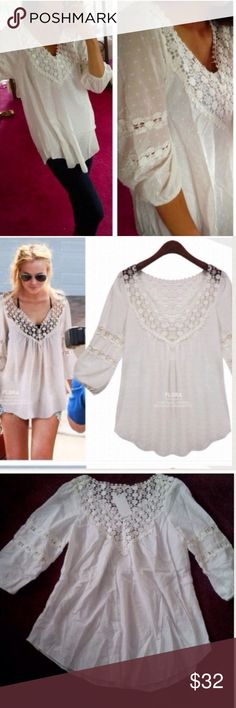 ❣NEW IN❣ Dotted Loose Cotton Essential White Top Brand new. Super light weight and super comfy too! Versatile as it could be dressed down to the beach or worn with jeans and fun heels for dinner! 100% cotton and fits 2-8. S/M. Tops Blouses