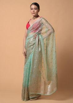 Diwali Outfits, Peach Saree, Saree Trends, Organza Saree, Saree Look, Blouse Online, Indian Sarees, Blouse Designs, Bridal Dresses