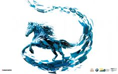 Diseño para la promoción internacional de DONNIE YEN (BMW DERBY) - Garaje Grafico Background Site, Spiritual Animal, Unicorn Tattoos, Polygon Art, Derby, Ceramic Design, Horse Love, New Print, Horse Art