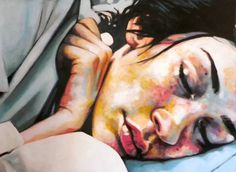 "Saatchi Art Artist Thomas Saliot; Painting, ""Sleeping girl"" #art"