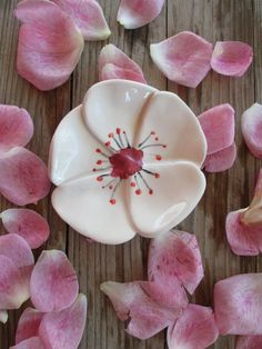 Weiteres - Keramik Kirschblüte, Ring Dish, Teebeutelhalter - ein Designerstück von TatjanaCeramics bei DaWanda