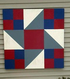 The next time you drive on Montgomery Road, going east, or in other words, toward the high school, you must make an effort to see an absolutely beautiful barn quilt. Barn Quilt Designs, Barn Quilt Patterns, Patchwork Quilt Patterns, Applique Quilts, Quilting Designs, Scrappy Quilts, Patch Quilt, Quilt Blocks, Hunters Star Quilt
