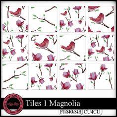 EXCLUSIVE Tiles 1 Magnolia CU4CU by Happy Scrap Arts