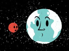 There Will Be Blood (Moon) - There is an eclipse tonight featuring both a Supermoon (when the Moon orbits closest to Earth) and a Blood Moon ( an eclipse where the Sun, Earth and Moon line up.) The Moon appears orange as it reflects the Sun. Moon Orbit, Blood Moon, Super Moon, Moon Design, Fun Facts, Snoopy, Animation, Science, Sun Illustration
