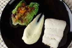 Classico e Moderno – Halibut with Baby Romaine, Guanciale, and Parsnip Puree – The Single Gourmand