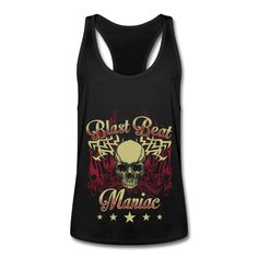 Blast Beat Maniac - Men's Tank Top with racer back Drummer T Shirts, Band Shirts, My Best Friend, Hoodies, Tank Tops, Unique, How To Wear, Bags, Clothes