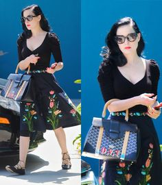 Dita Von Teese.. i honestly like her everday outfits best :) cuz she always look so freking classy