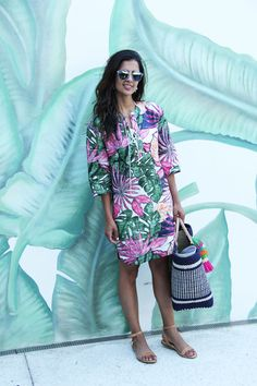 Retro Lace-up dress by @Tommybahama Dior So Real sunglasses
