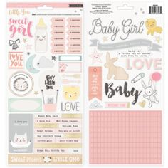 Crate Paper Little You Girl stickers Accents