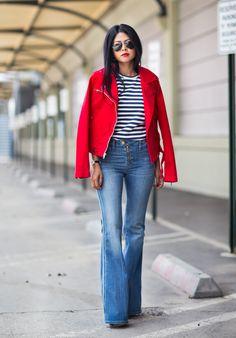 Red, white & denim.