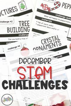 STEM Challenges that are perfect for December and the Holiday Season. Use these simple to prepare challenges in your preschool, pre-k or kindergarten classroom.