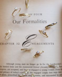 Delicate and unique engagement rings and wedding bands to emulate your one-of-a-kind love (link in profile to shop)