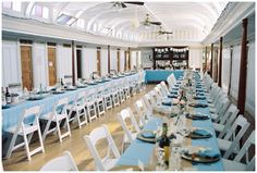 The dining saloon on board the SS Sicamous Stern Wheeler (Penticton, BC). The room is ready for a Wedding Reception to be held later that day. The wedding ceremony was held off ship, at a winery in Naramata (the heart of the Okanagan Wine Country).