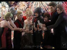 """emy-san: """"Happy New Year! Final Fantasy Characters, Final Fantasy Artwork, Fantasy Series, Ignis Final Fantasy, Final Fantasy Crisis Core, Noctis And Luna, Happy New Year Baby, Fantasy Setting, Cool Artwork"""