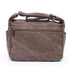 Men Women Canvas Retro Casual Ipad Shoulder Crossbody Bag - US$19.54