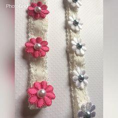 Vinchas elasticas con detalles de florecitas